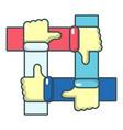 like icon cartoon style vector image