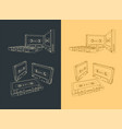 magnetic tape cassettes vector image