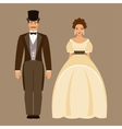 Man and woman of the nineteenth century vector image