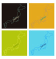 map of japan in high resolution detailed vector image vector image