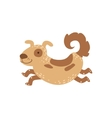 Medium SIzed Spotted Dog Running vector image vector image