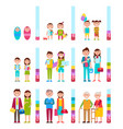 people and scale with years vector image
