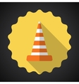 Police Road Cone Flat icon background vector image vector image
