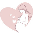 pregnant woman expecting a child with love vector image