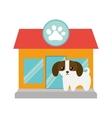 puppy little canine adorable pet shop facade paw vector image vector image
