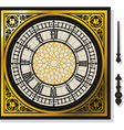 Quadrant of Victorian Clock with Lancets vector image vector image
