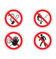 Regulatory signs vector image vector image