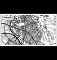sabadell spain city map in retro style outline map vector image vector image