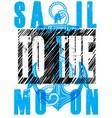 sail poster vector image vector image