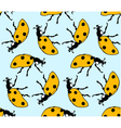 seamless pattern made from ladybugs vector image vector image