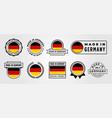 set made in germany label badge symbol design vector image