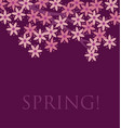 simple naive pink color sakura blossom primitive vector image vector image