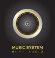 speaker system vector image