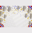 template for happy birthday card luxury party vector image vector image