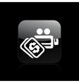 video cost icon vector image vector image