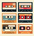 vintage cassette set vector image