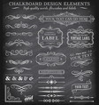 vintage chalkboard labels and ornaments vector image