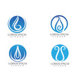 water drop nature logo and symbols template icons vector image