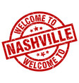 welcome to nashville red stamp vector image vector image