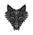 wolf head celtic style t-shirt typography design vector image