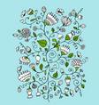 floral ornament sketch for your design vector image