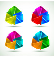 Set of colorful arrows icons vector image