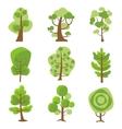 Tree Logo Cartoon Decorative Icons vector image