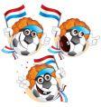 Dutch cartoon football vector image