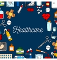 Healthcare and medicine sketched background vector image