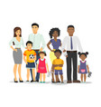 african-american and white family isolated vector image
