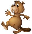 A dancing beaver vector image vector image