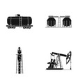 a railway tank an oil storage a drilling tower vector image vector image