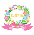 A wedding wreath of flowers vector image