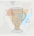 abstract polygonal tirangle cocktail irish coffee vector image vector image