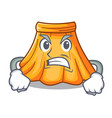 angry cartoon summer female in a skirt vector image vector image
