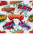 bang seamless comics background vector image vector image
