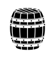 black wooden barrel icon image design vector image vector image