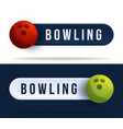 bowling toggle switch buttons with basketball vector image vector image