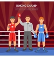 Boxing Champ Composition vector image