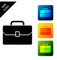 briefcase icon isolated on white background vector image vector image