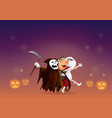 cartoon ghost says hello halloween vector image vector image