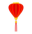 cartoon red chinese lantern vector image vector image