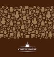 coffee horizontal brown vector image vector image