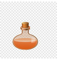 glass bottle chemistry icon cartoon style vector image vector image