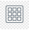 grids concept linear icon isolated on transparent vector image