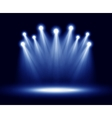 group realistic spotlights lighting vector image