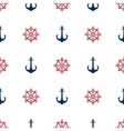 Grunge marine seamless pattern vector image vector image