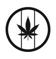 Hemp leaf on round rasta flag icon vector image vector image