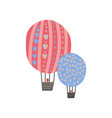 hot air balloons summer travel sign symbol vector image