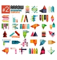 Huge set of arrow infographic templates 2 vector image vector image